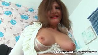 German Milf Kristine Rips A Hole In Her Pantyhose PornZek.Com